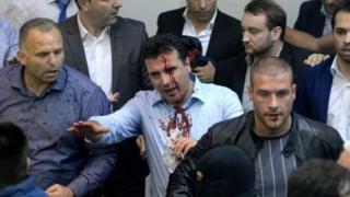 Weerarka baarlamaanka Macedonia