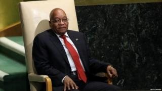 Mr Zuma went on to become South Africa's president three years after he was acquitted of rape