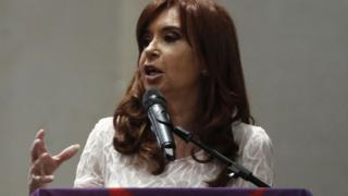 Former Argentine president Cristina Fernandez speaks during the conference in Sao Paulo, December 9, 2016