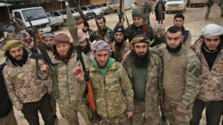 گروههای شورشی مورد حمایت ترکیه در شمال سوریه حضور دارند