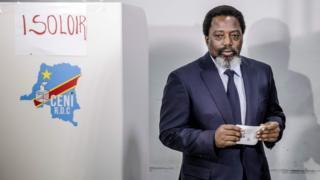 Joseph Kabila dey vote