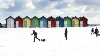 Пляж в городе Блайс, Нортамберленд