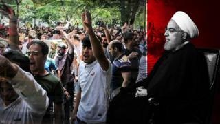 روحانی تحریمهای آمریکا را گردن اعتراضات دی ماه انداخت