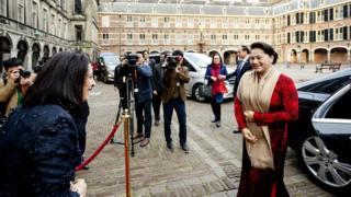Chủ tịch Quốc hội VN Nguyễn Thị Kim Ngân trong một chuyến công du nước ngoài