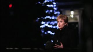 Nicola Sturgeon outside Downing Street