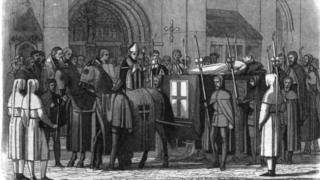Тело Ричарда II привозят в собор Св.Павла