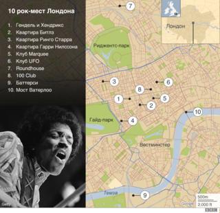 10 рок-мест на карте Лондона