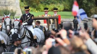 Crowds cheer on Princess Eugenie and Jack Brooksbank