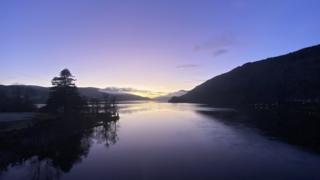 Loch Tay at night