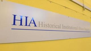 Historical Institutional Abuse Inquiry sign
