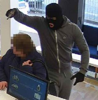 CCTV image from Leeds building society robbery