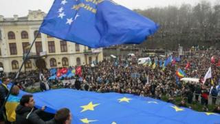Перші протести починалися на Європейській площі у Києві