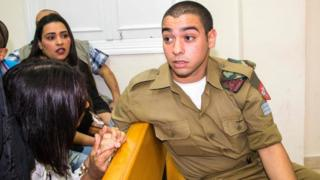 Sgt Elor Azaria at a military court in Jaffa on 9 May 2016