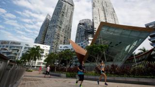 Corredores en Singapur
