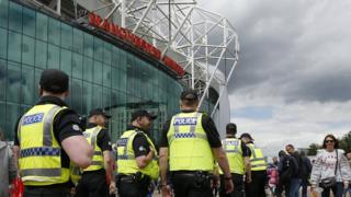 Police at Old Trafford