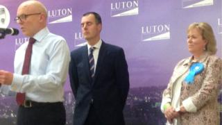 Labour's Olly Martins (centre) and Kathryn Holloway