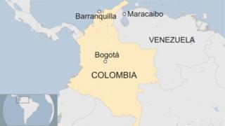 Ikarita igaragaza Colombia na Venezuela