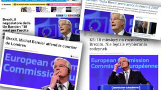 Combo picture of online articles about Brexit