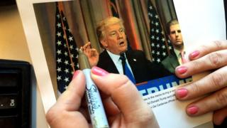 Donald Trump and a gold sharpie
