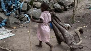 Afrikalı bir çocuk