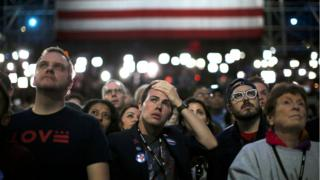 Supporters of Democratic presidential nominee Hillary Clinton
