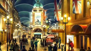 New concept art for the London Resort, set to open in Swanscombe in 2024