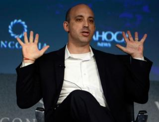 Director of the Anti-Defamation League Jonathan Greenblatt speaks during the 2015 Concordia Summit in New York on October 2, 2015.