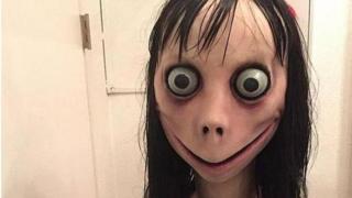 """El aspecto de """"Momo"""" es aterrador."""
