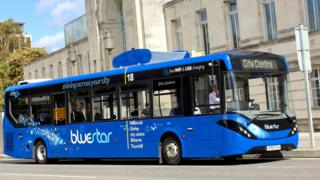 The prototype Bluestar bus
