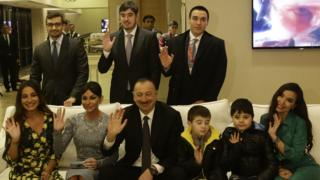 Aliyev and family
