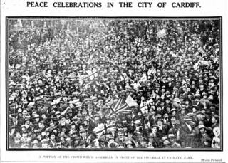 Armistice Day celebrations in 1918 in Cardiff