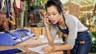 A self-employed woman