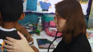 Young medic Julia Castro