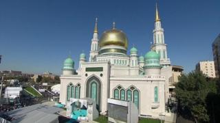 View of the rebuilt Jum'ah mosque in Moscow