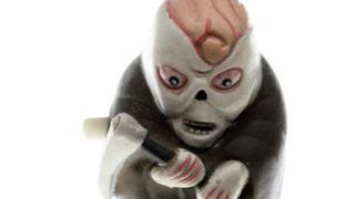 A little clockwork zombie toy