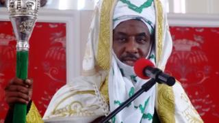 Emir ilu Kano Muhammadu Lamido Sanusi nduro o nsọrọ