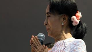 NLD leader Aung San Suu Kyi (9 Nov 2015)