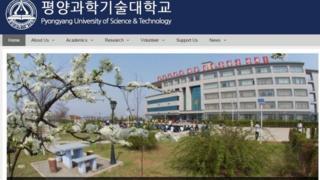 Screenshot of PUST website