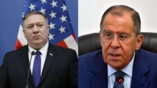 ABD Dışişleri Bakanı Mike Pompeo ve Rusya Dışişleri Bakanı Sergey Lavrov