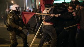 демонстрация в Афинах