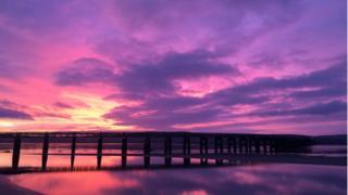 Tay bridge sunrise