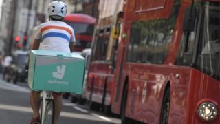 Deliveroo rider in London
