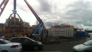 Fairground ride in Ayr
