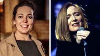 Olivia Colman and Beth Gibbons of Portishead