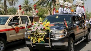 Funeral of Gen Abdel Rahman Abu Ragheef and Brig Safeen Abdel Majeed in Baghdad (27/08/15)