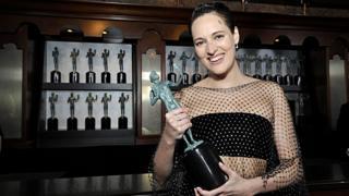 Brad Pitt and Jennifer Aniston celebrate together at SAG Awards