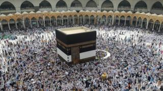 Pilgrims at the Hajj in Mecca