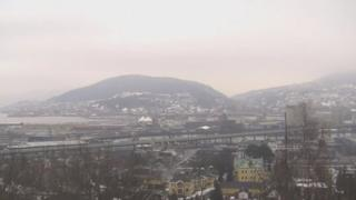 Heating pipes in Drammen, Norway