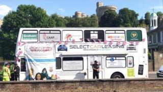 Homeless bus in Windsor
