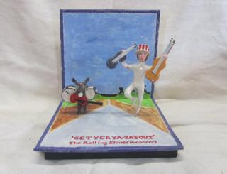Ceramic version of Get Yer Ya-Ya's Out by the Rolling Stones